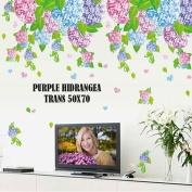 Purple Hidrangea_AY7146_Wallsticker ecer, grosir untuk dekor kamar, ruang tamu, kamar bayi. 085776500991-bu Eva