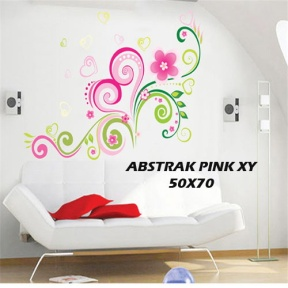 xy8006 ABSTRAK PINK Wallsticker kamar anak bayi, grosir untuk dekor kamar, ruang tamu. 085776500991-bu Eva