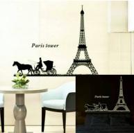 Paris Tower Glow Wallsticker anak, grosir, bagus, bunga, dapur, ruang tamu. 085776500991-bu Eva
